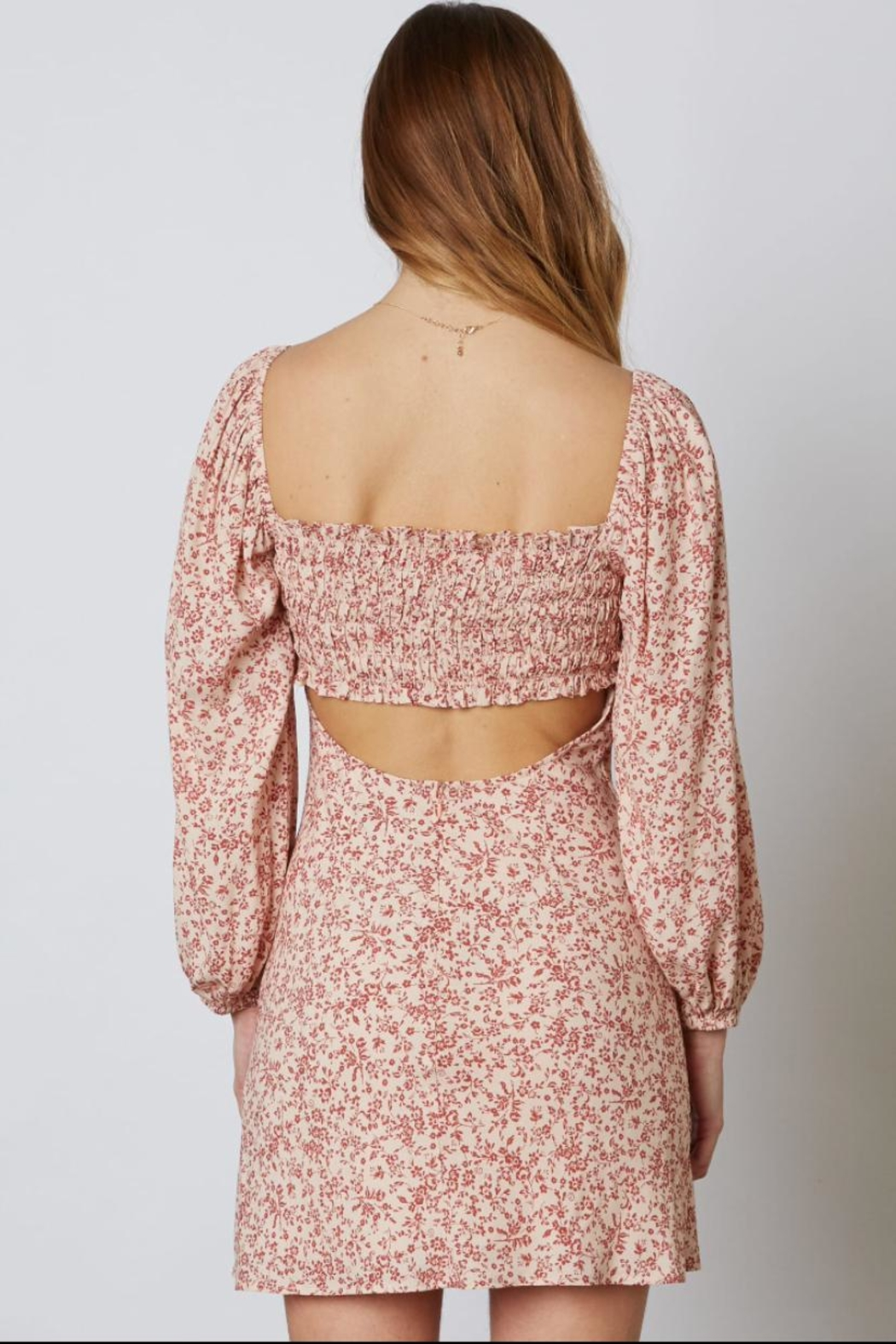 Cotton Candy LA Long-Sleeve Floral Dress - Side Cropped Image