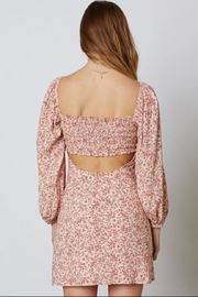 Cotton Candy LA Long-Sleeve Floral Dress - Side cropped