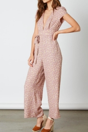 Cotton Candy LA Mauve Floral Jumpsuit - Product Mini Image