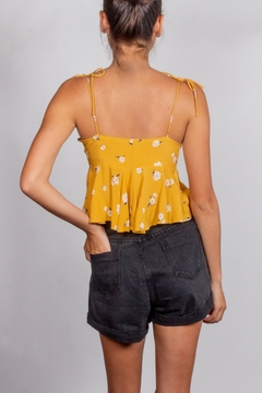 Cotton Candy LA Mustard Tie-Front Ruffle-Top - Alternate List Image
