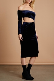 Cotton Candy LA Navy Velvet Midi - Front full body