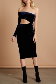 Cotton Candy LA Navy Velvet Midi - Front cropped