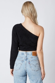 Cotton Candy LA One Shoulder Sweater - Front full body