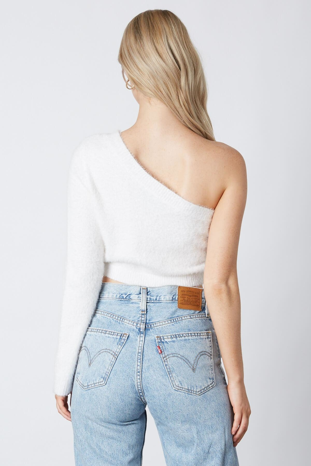 Cotton Candy LA One Shoulder Sweater - Front Full Image