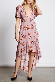 Cotton Candy LA Plunging Floral Maxi - Product Mini Image