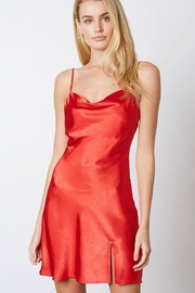 Cotton Candy LA Red Satin Mini-Dress - Front cropped