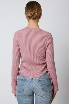 Cotton Candy LA Ribbed Cinched Sweater - Alternate List Image