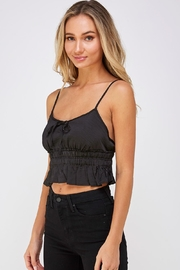 Cotton Candy LA Satin Crop Top - Front full body