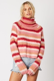 Cotton Candy LA Striped Pink Sweater - Product Mini Image