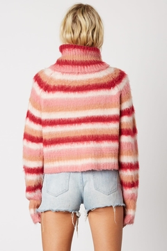 Cotton Candy LA Striped Pink Sweater - Alternate List Image