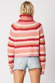 Cotton Candy LA Striped Pink Sweater - Front full body
