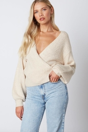 Cotton Candy LA Tie Back Sweater - Front cropped