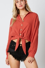 Cotton Candy LA Tie Bottom Blouse - Product Mini Image