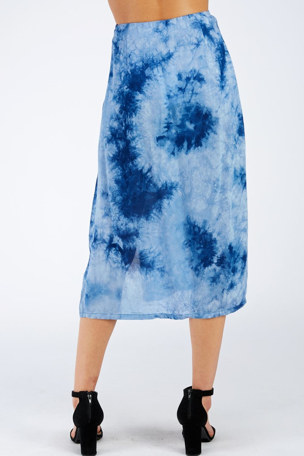 Cotton Candy LA Tie Dye Skirt - Side Cropped Image