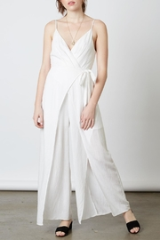 Cotton Candy LA White Wrap Jumpsuit - Product Mini Image