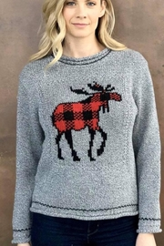 Cotton Country Canadian Moose Sweater - Product Mini Image