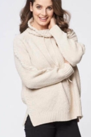 Cotton Country Cozy Neutral Sweater - Front cropped