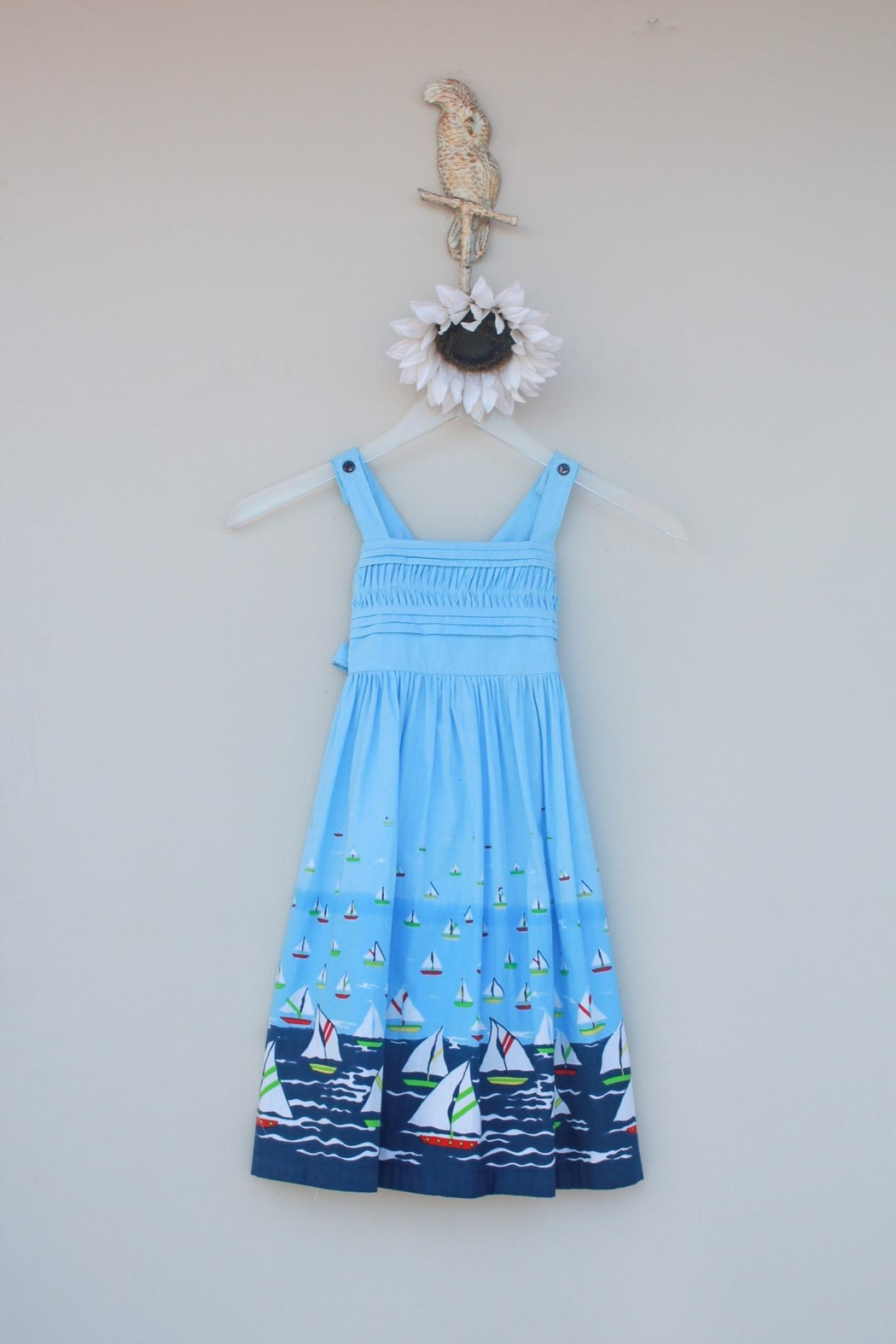 Cotton Kids Sailboat Sundress - Front Cropped Image