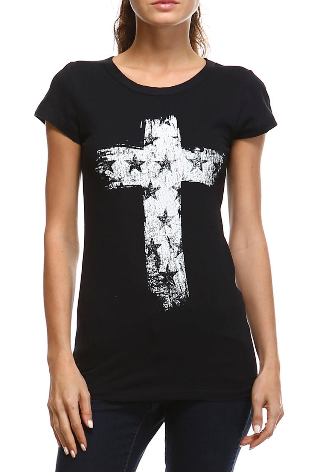 CottyOn Star Cross Tee - Front Cropped Image