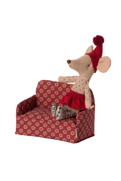 Maileg Couch Mouse Red PREORDER - Alternate List Image