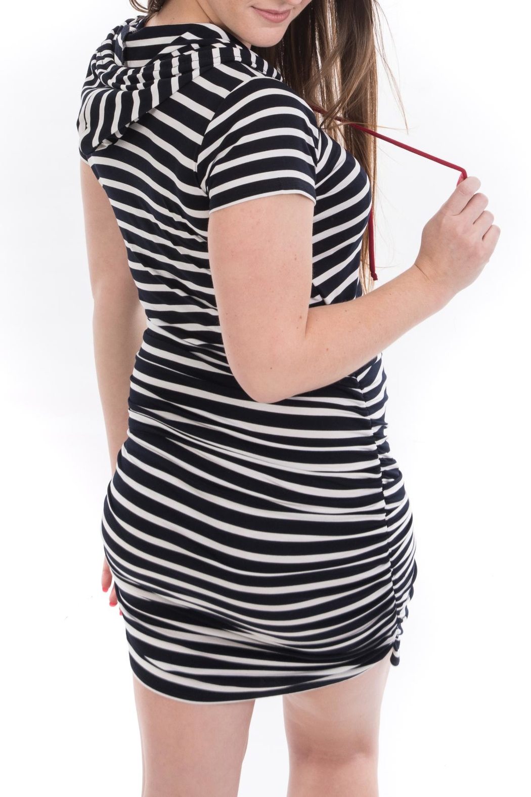 Bellybedaine Coucou Stripe Dress - Side Cropped Image