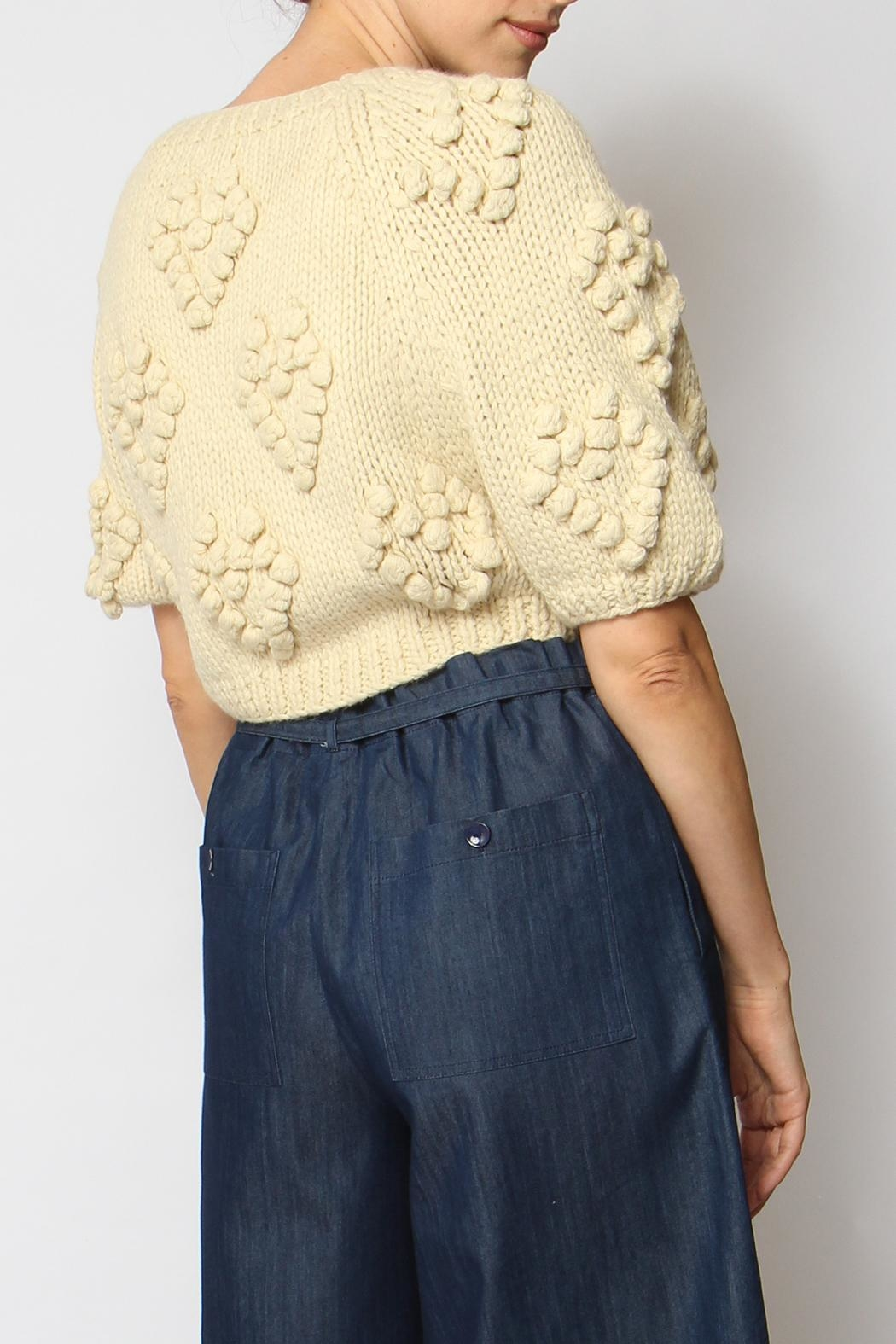 Callahan Couer Cropped Sweater - Front Full Image