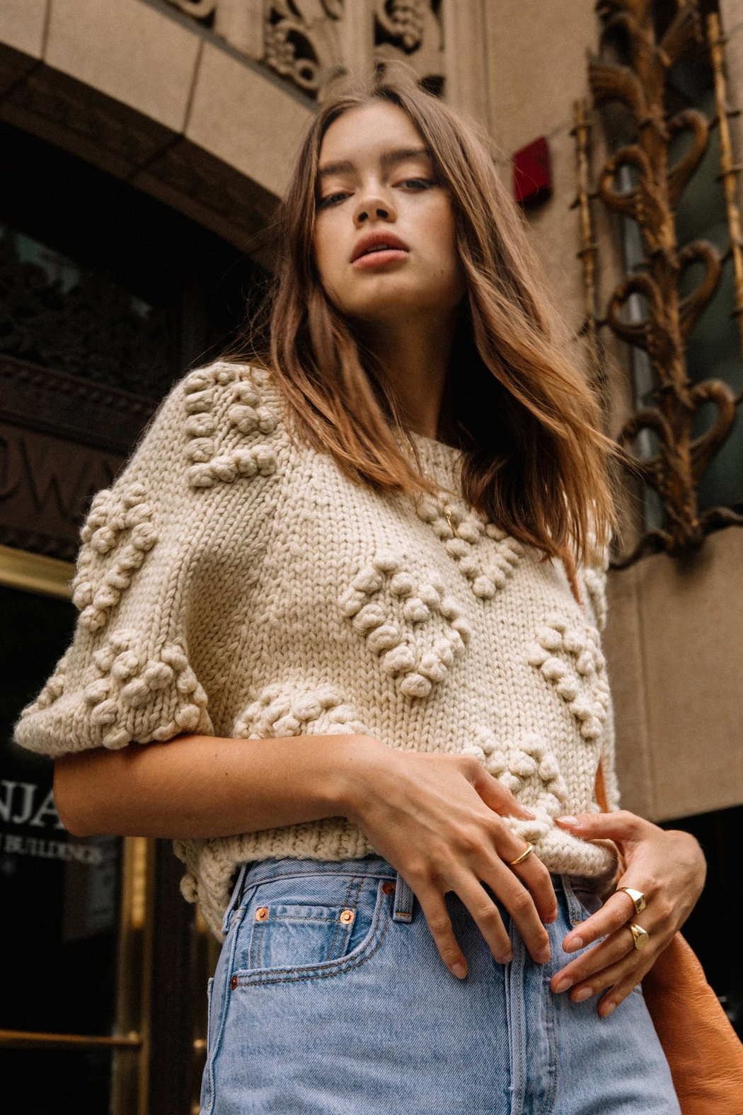 Callahan Couer Cropped Sweater - Back Cropped Image