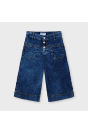 Mayoral Coulotte Pocket Pants With Pockets - Front full body