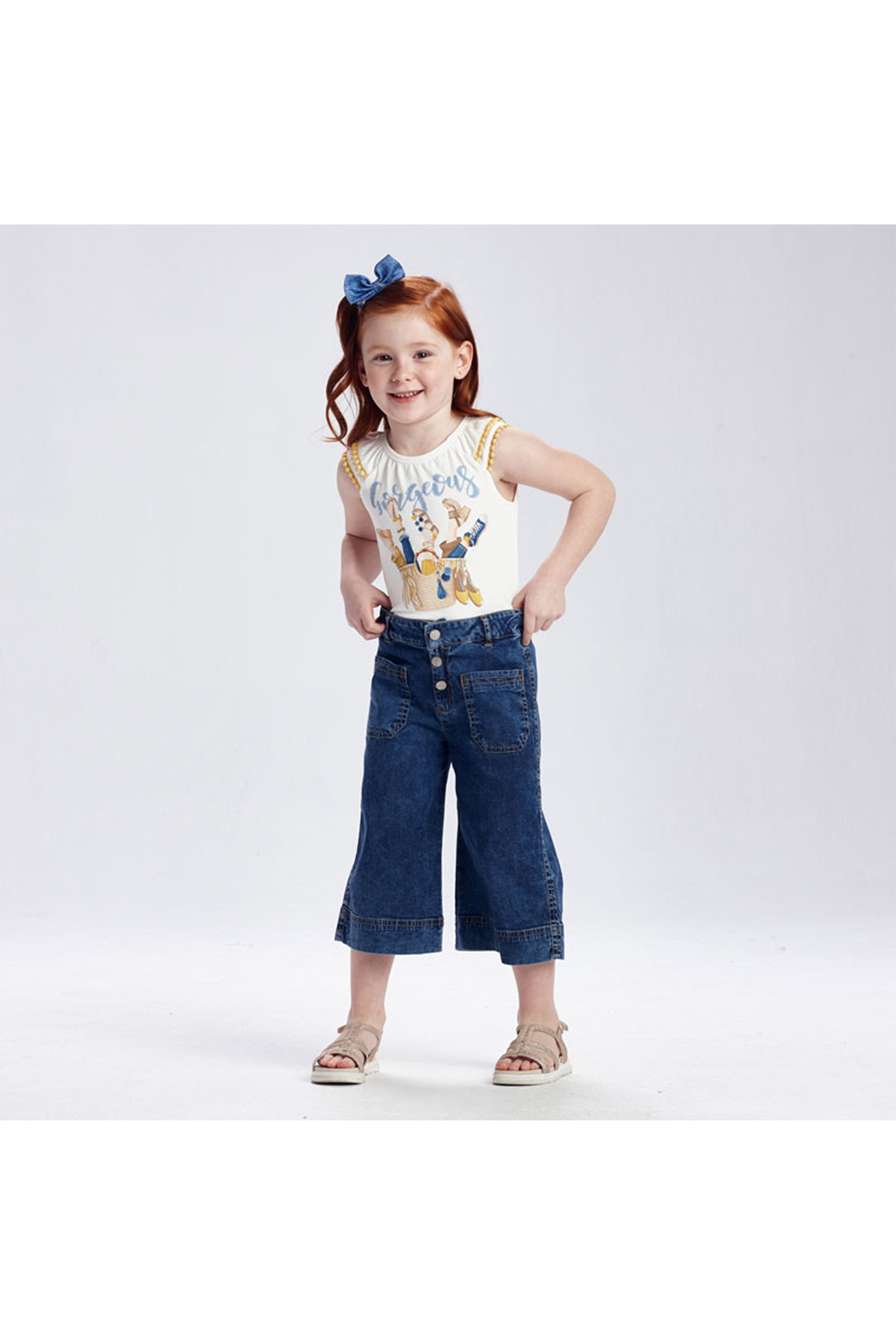 Mayoral Coulotte Pocket Pants With Pockets - Main Image