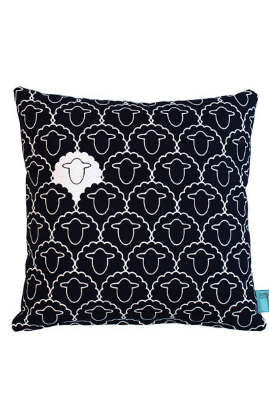 counter couture White Sheep Pillow - Front Cropped Image