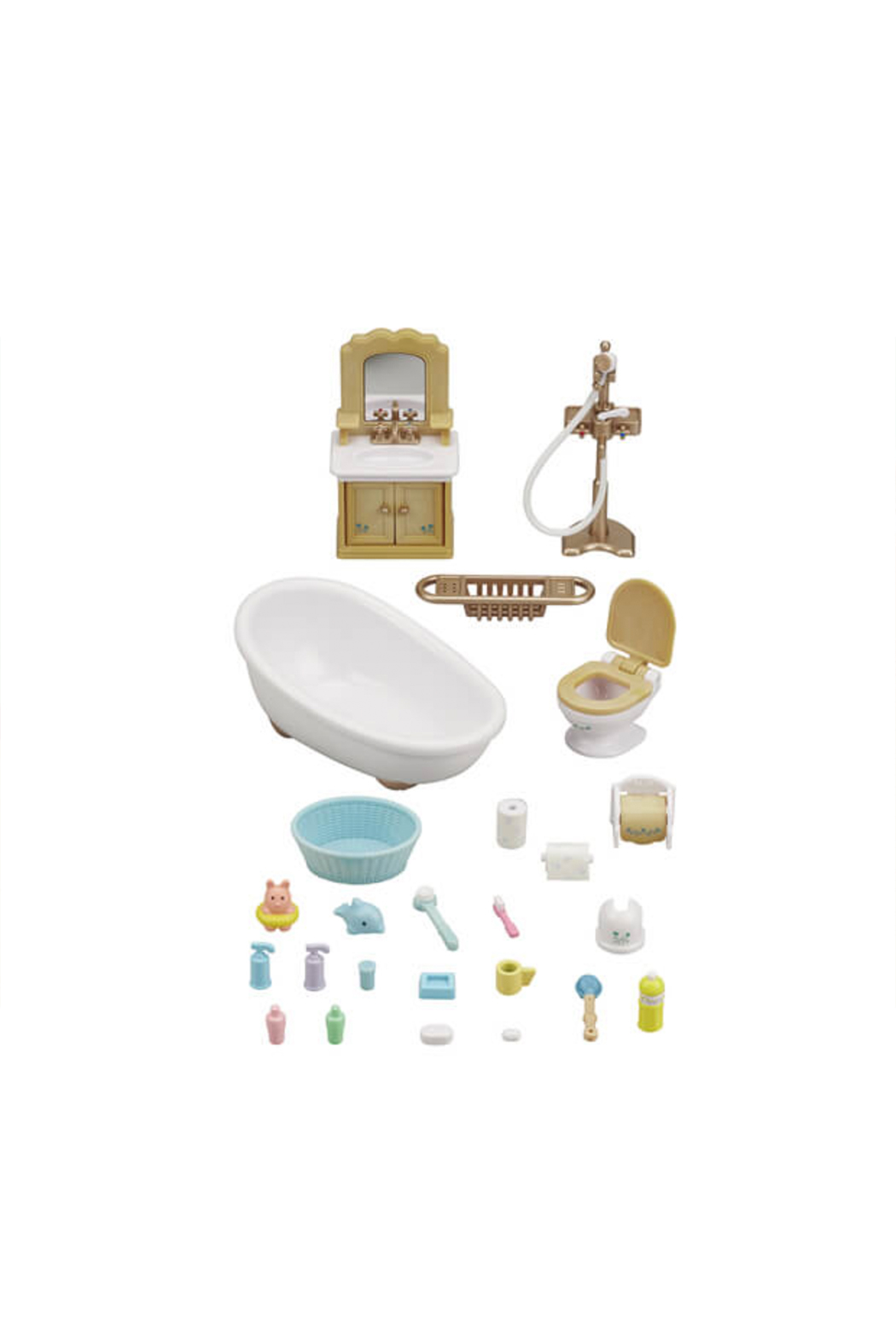 Calico Critters Country Bathroom Set - Front Full Image