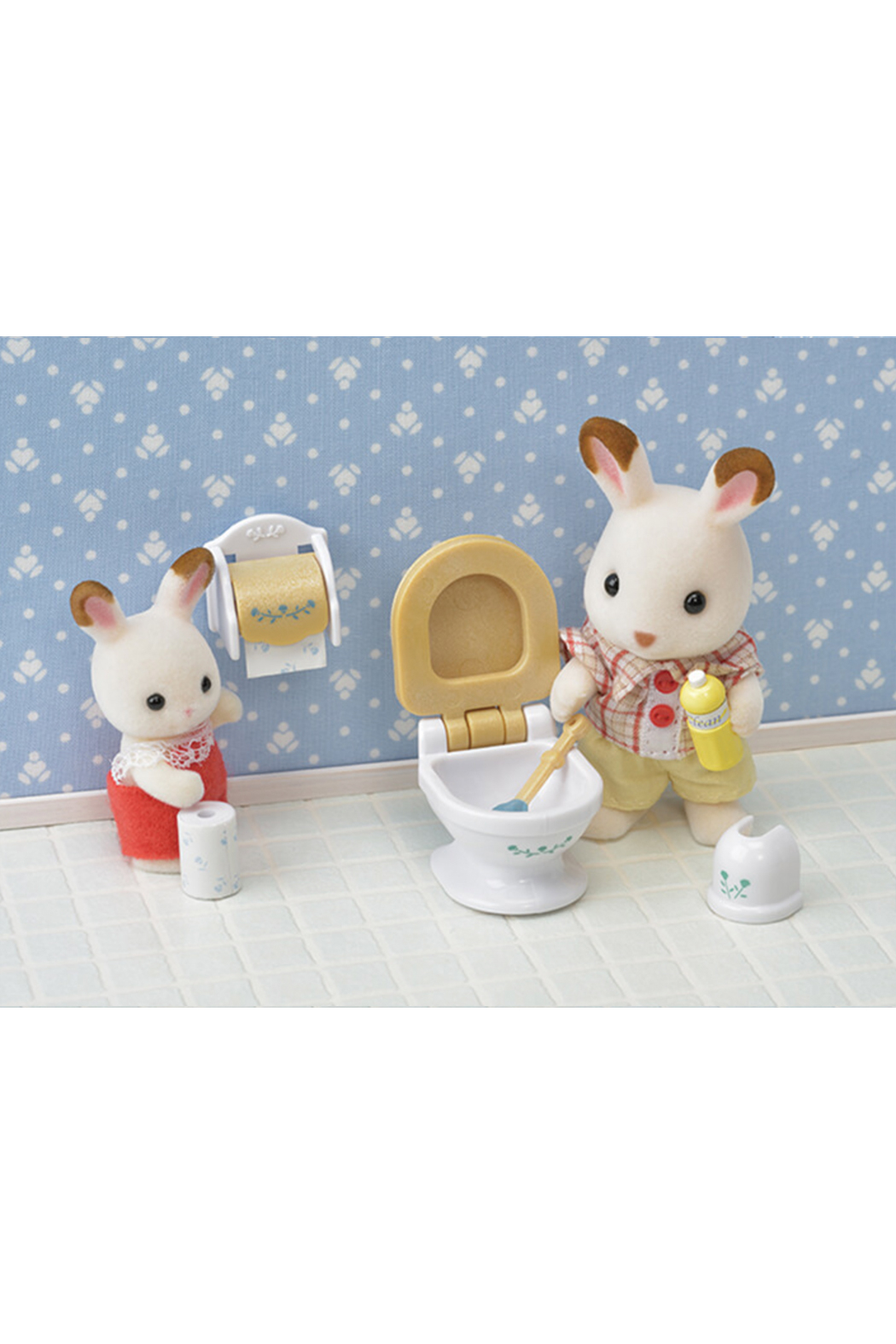 Calico Critters Country Bathroom Set - Back Cropped Image