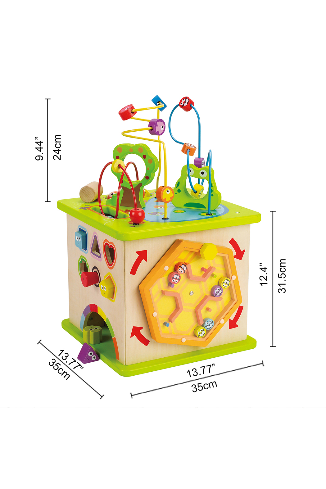 Hape  Country Critters Play Cube - Back Cropped Image