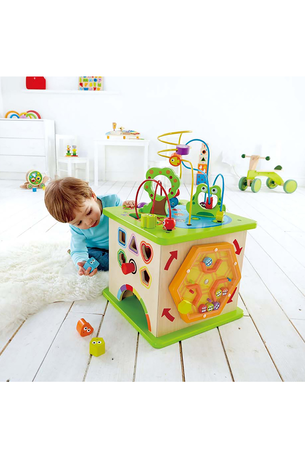 Hape  Country Critters Play Cube - Side Cropped Image
