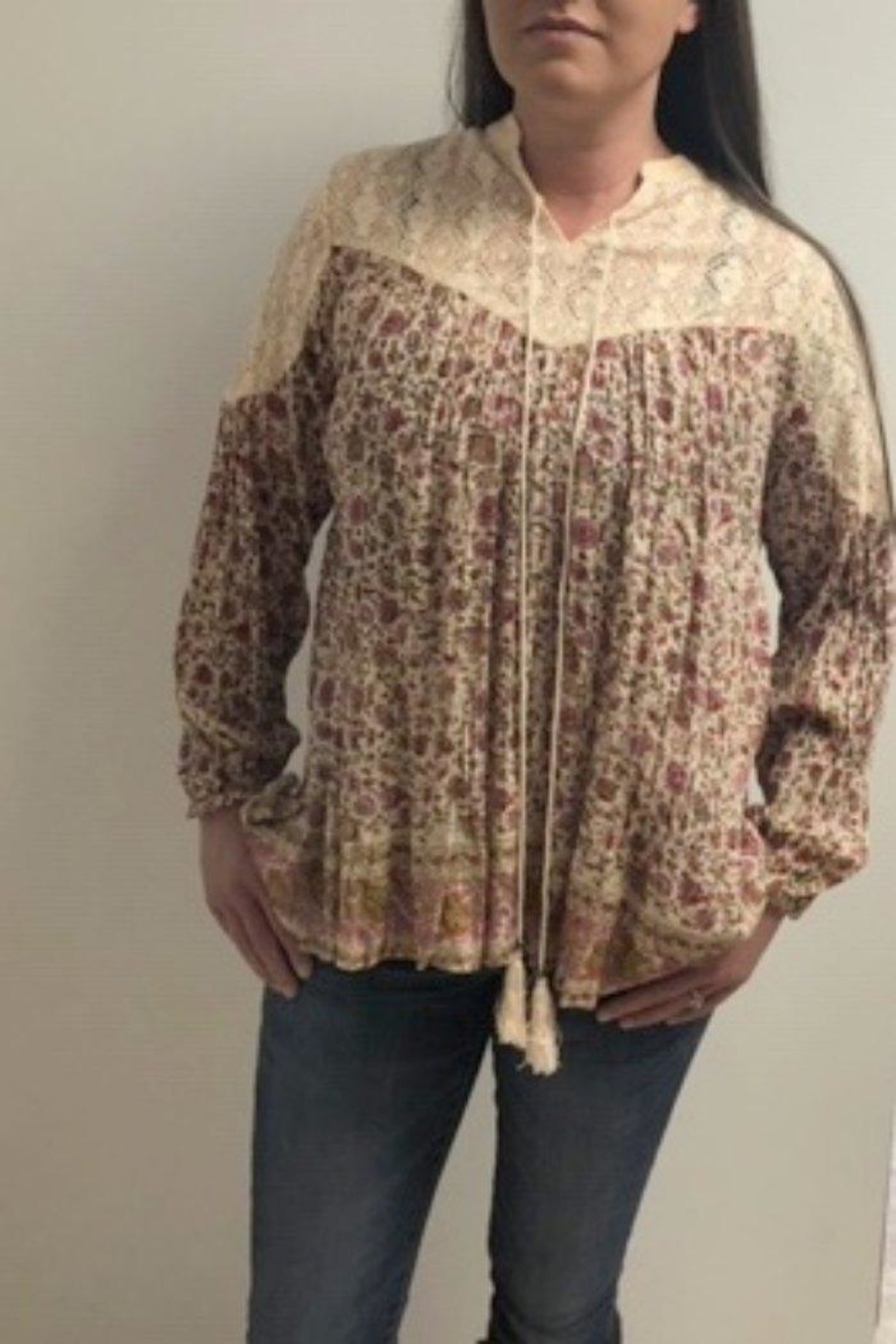 Lola P. Country Floral Top - Main Image