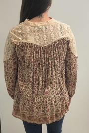 Lola P. Country Floral Top - Front full body