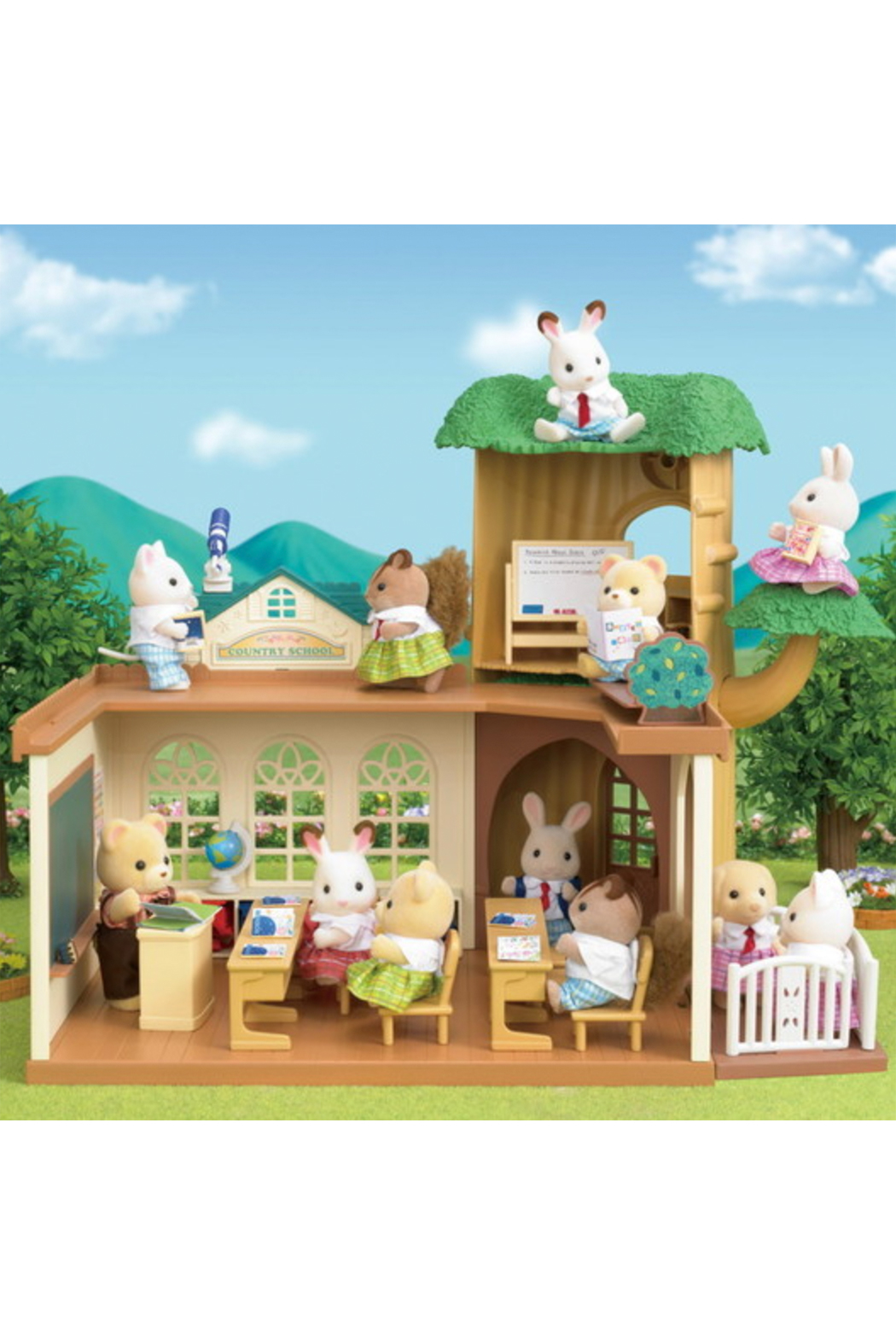 Calico Critters Country Tree School - Back Cropped Image