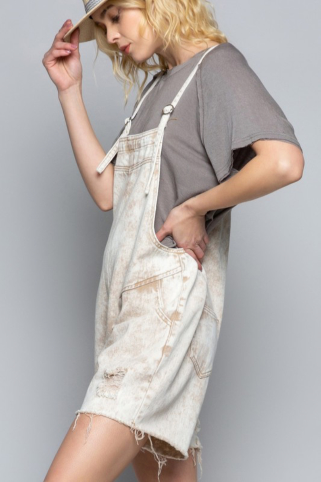 POL Country Vibe Overalls - Front Full Image