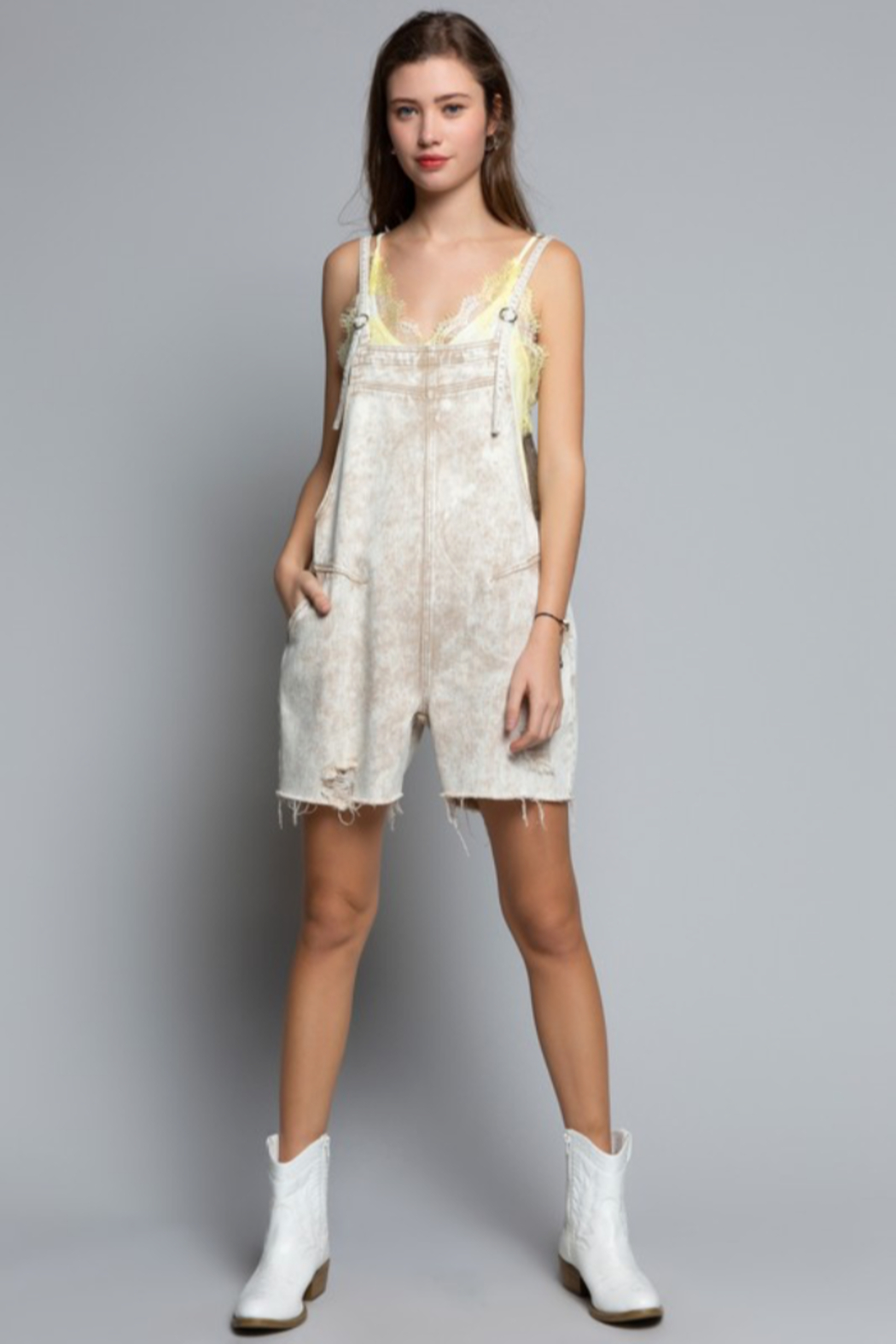 POL Country Vibe Overalls - Back Cropped Image