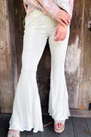 SAINTS & HEARTS  Countryside Ivory Lace Bell Bottoms - Product Mini Image