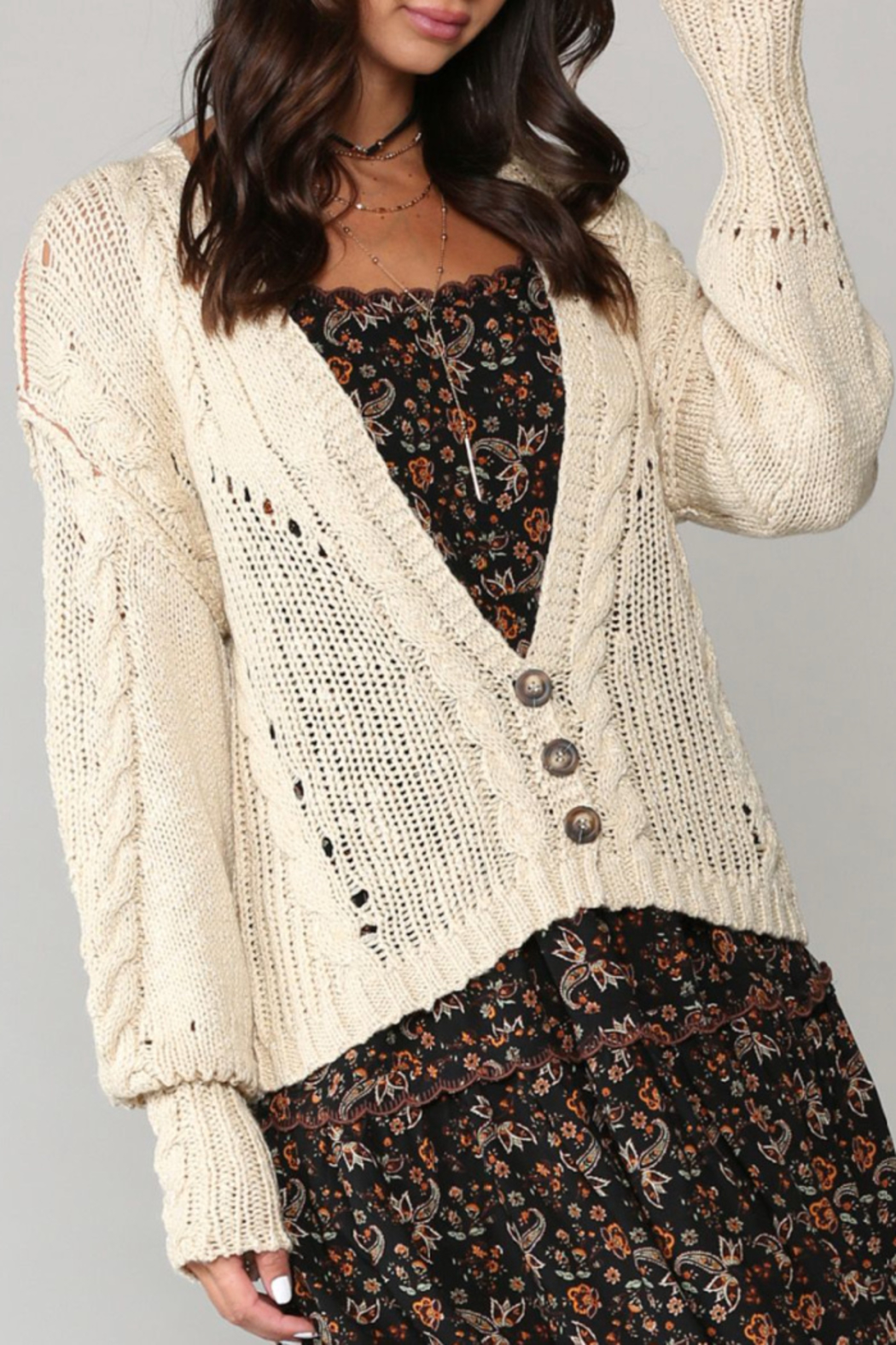 Kye Mi Courtney Cardigan - Front Full Image
