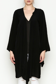 Cousin Earl Black Bell Sleeve Kimono - Front full body