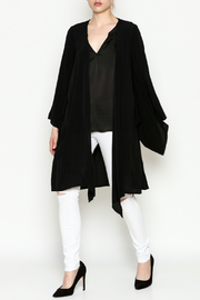 Cousin Earl Black Bell Sleeve Kimono - Side cropped