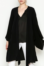 Cousin Earl Black Bell Sleeve Kimono - Product Mini Image