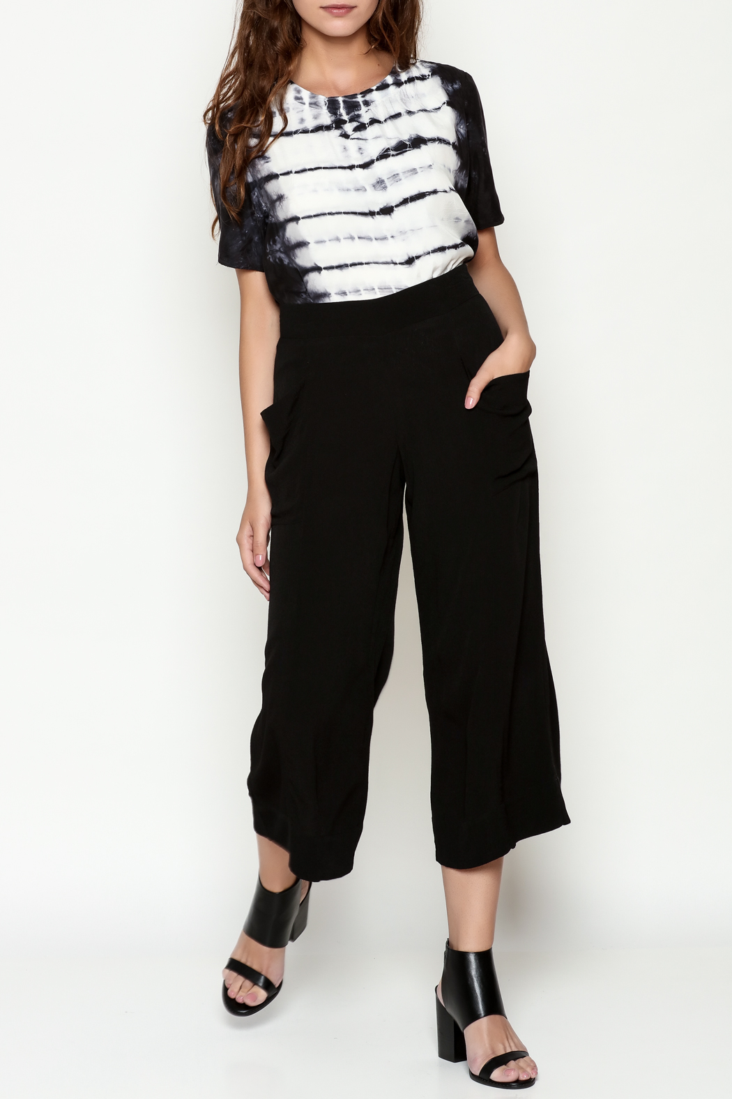 Cousin Earl Black Palazzo Pants - Side Cropped Image