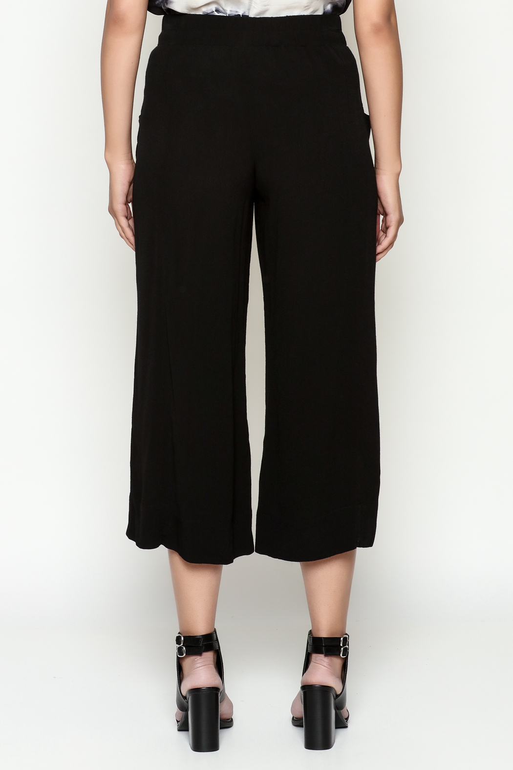Cousin Earl Black Palazzo Pants - Back Cropped Image
