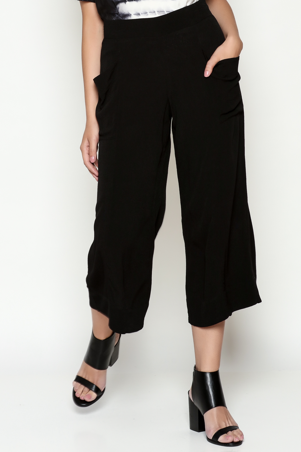 Cousin Earl Black Palazzo Pants - Front Cropped Image