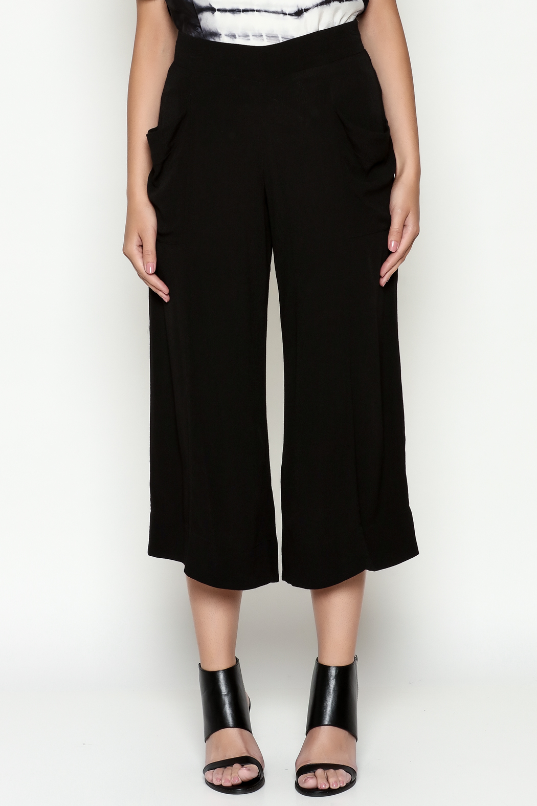 Cousin Earl Black Palazzo Pants - Front Full Image