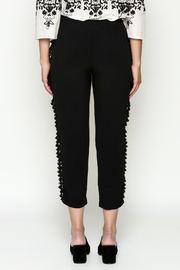 Cousin Earl Black Pom Pom Pants - Back cropped
