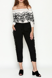 Cousin Earl Black Pom Pom Pants - Side cropped